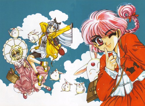 CLAMP, Magic Knight Rayearth, Magic Knight Rayearth Illustrations Collection, Hikaru Shidou, Mokona