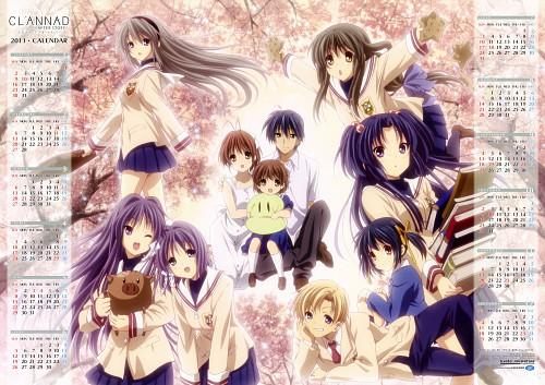 Kyoto Animation, Clannad, Kyou Fujibayashi, Mei Sunohara, Tomoyo Sakagami