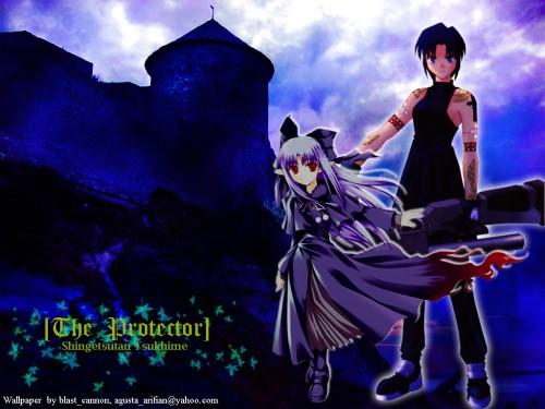 TYPE-MOON, Shingetsutan Tsukihime, Ciel (Shingetsutan Tsukihime), Len (Melty Blood) Wallpaper
