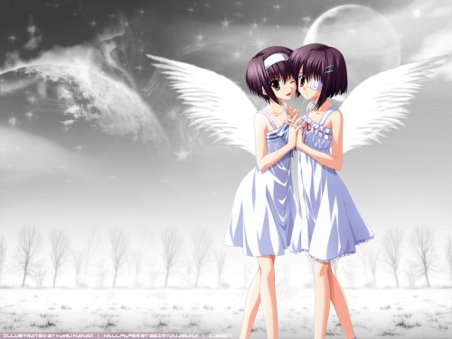 Naru Nanao, Shaft (Studio), ef - a fairy tale of the two., Chihiro Shindou, Kei Shindou Wallpaper