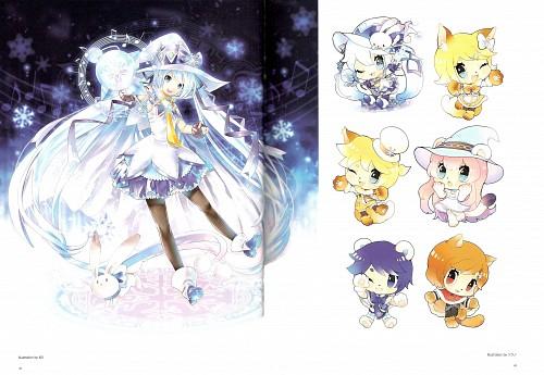 KEI, Snow Miku 5th Anniversary Memorial Book, Vocaloid, Luka Megurine, Miku Hatsune