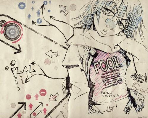 Yoshiyuki Sadamoto, Production I.G, Gainax, FLCL, Haruko Haruhara Wallpaper