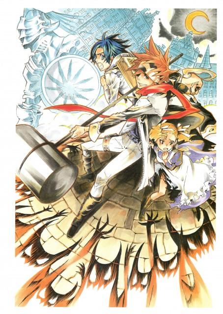 Katsura Hoshino, D Gray-Man, Noche - D.Gray-man Illustrations, Lavi, Bookman