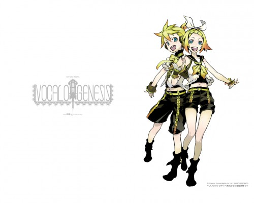 Miwa Shirow, Vocaloid, Rin Kagamine, Len Kagamine, Official Wallpaper