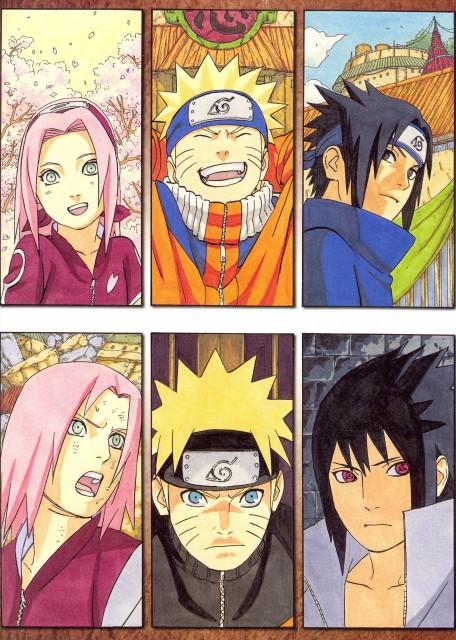 Masashi Kishimoto, Naruto, NARUTO Illustrations, Naruto Uzumaki, Sakura Haruno