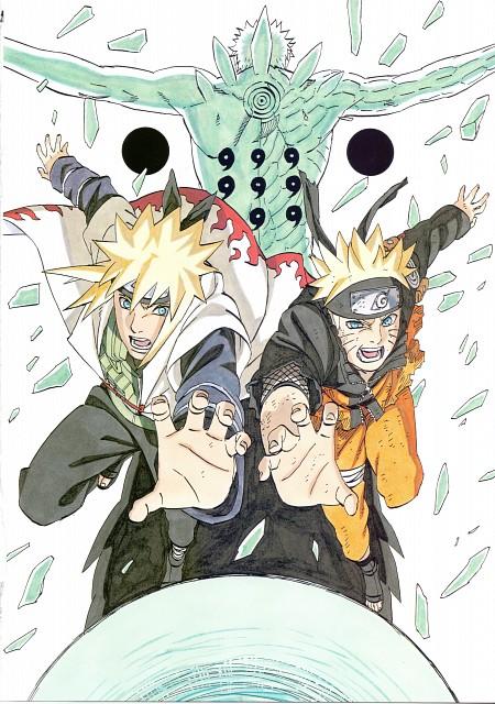 Masashi Kishimoto, Naruto, Obito Uchiha, Naruto Uzumaki, Minato Namikaze