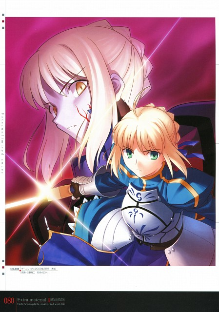 TYPE-MOON, Fate/complete material IV Extra material., Fate/stay night, Saber Alter, Saber