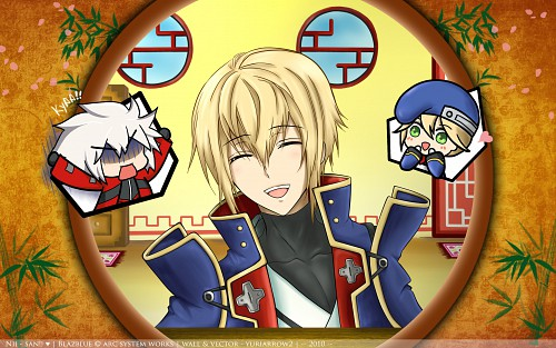 Blazblue, Jin Kisaragi, Noel Vermillion, Ragna the Bloodedge Wallpaper