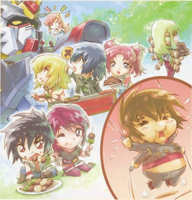RGB, Mobile Suit Gundam SEED Destiny, Lunamaria Hawke, Meyrin Hawke, Shinn Asuka
