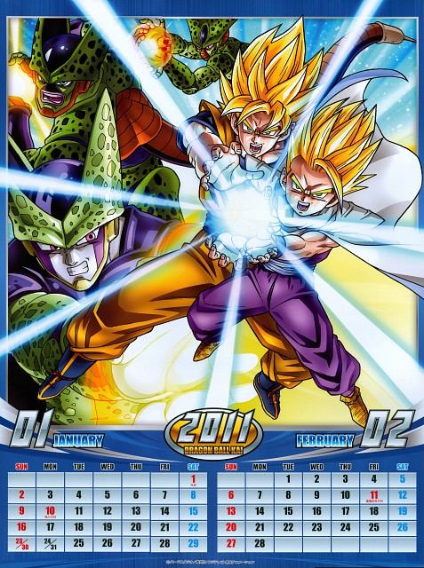 Dragon Ball, Son Gohan, Super Saiyan Goku, Cell, Calendar