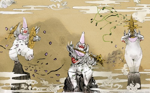 Capcom, Okami Official Illustrations Collection, Okami Wallpaper