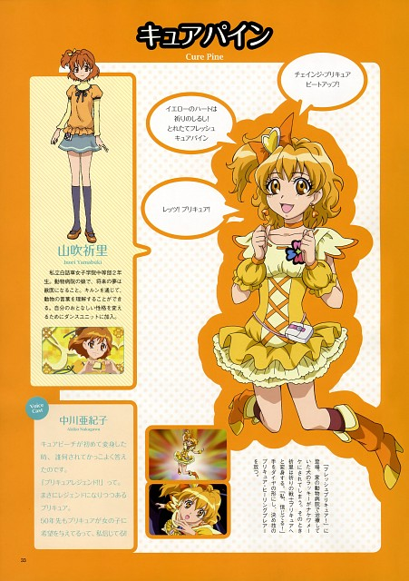 Toei Animation, Fresh Precure!, Precure 10th Anniversary Official Book, Inori Yamabuki, Cure Pine