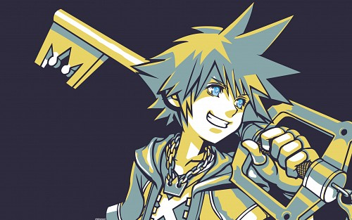 Square Enix, Kingdom Hearts, Sora, Vector Art Wallpaper