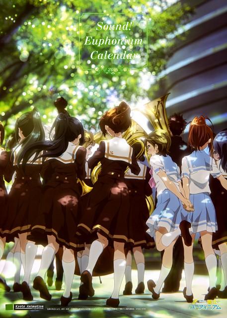 Kyoto Animation, Pony Canyon, Hibike! Euphonium, Hibike! Euphonium Calendar 2016, Riko Nagase