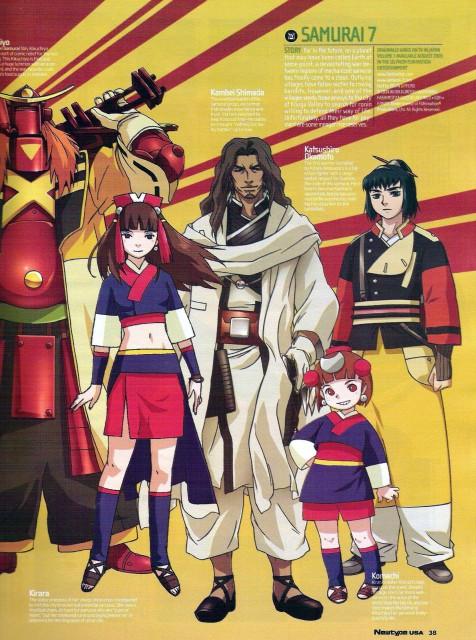 Gonzo, Samurai 7, Kirara (Samurai 7), Komachi (Samurai 7), Shimada Kambei