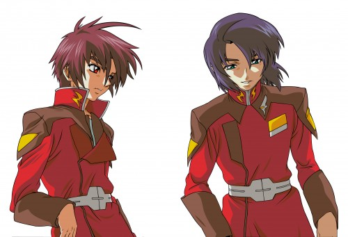 Sunrise (Studio), Mobile Suit Gundam SEED Destiny, Shinn Asuka, Athrun Zala, Vector Art