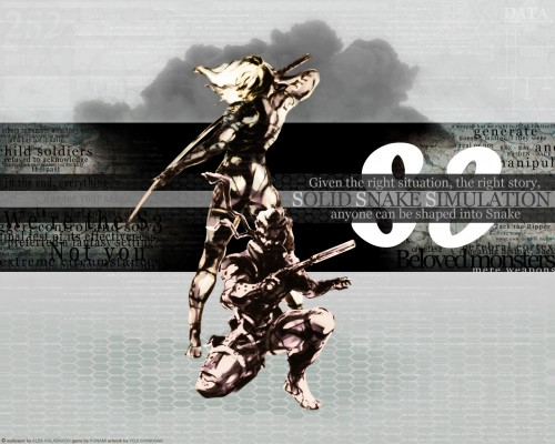 Konami, Metal Gear Solid, Raiden, Solid Snake Wallpaper