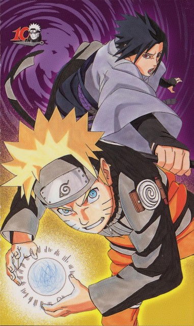 Masashi Kishimoto, Naruto, Mina no Sho Fan Book, Sasuke Uchiha, Naruto Uzumaki