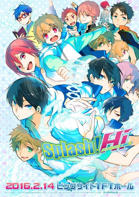 Kyoto Animation, Free!, Haruka Nanase (Free!), Rin Matsuoka, Natsuya Kirishima
