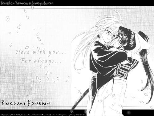 Shamneko, Rurouni Kenshin, Kenshin Himura, Kaoru Kamiya, Doujinshi Wallpaper