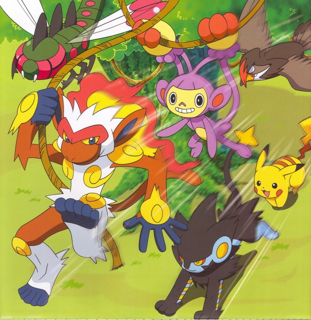 OLM Digital Inc, Nintendo, Pokémon, Pikachu, Staraptor