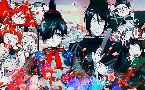 Yana Toboso, A-1 Pictures, Kuroshitsuji, Lau, Undertaker Wallpaper