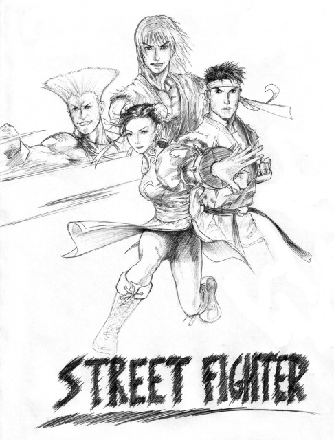 Capcom, Street Fighter, Guile, Ken Masters, Ryu