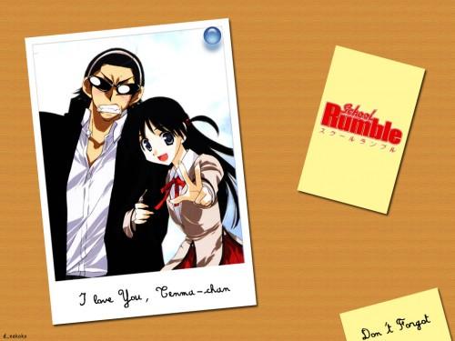 School Rumble, Tenma Tsukamoto, Kenji Harima Wallpaper