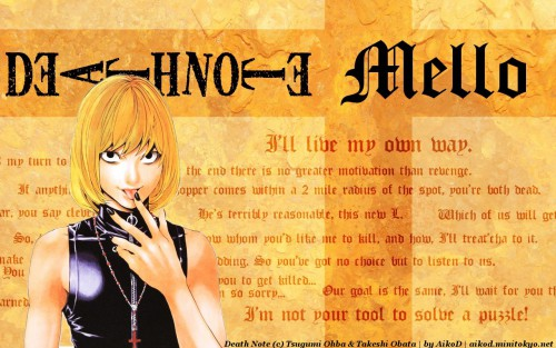 Takeshi Obata, Madhouse, Death Note, Mello Wallpaper