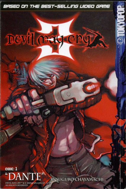 Chayamachi Suguro, Capcom, Devil May Cry, Dante, Manga Cover