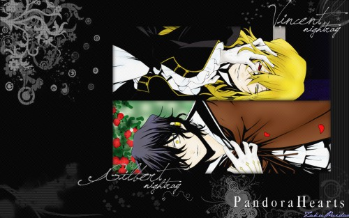 Jun Mochizuki, Pandora Hearts, Vincent Nightray, Gilbert Nightray Wallpaper