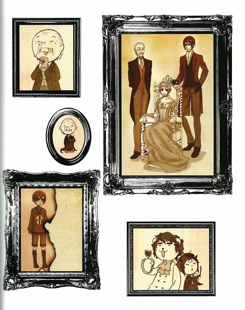 Yana Toboso, Kuroshitsuji, Black Butler Artworks 1, Tanaka, Vincent Phantomhive