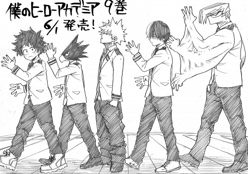 Kouhei Horikoshi, Boku no Hero Academia, Fumikage Tomoyami, Shouto Todoroki, Katsuki Bakugou