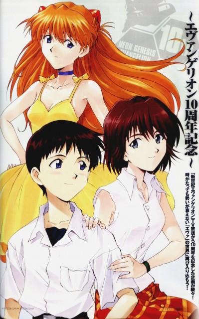 Yoshiyuki Sadamoto, Neon Genesis Evangelion, Mana Kirishima, Shinji Ikari, Asuka Langley Soryu