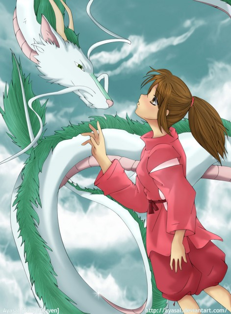 Studio Ghibli, Spirited Away, Haku (Spirited Away), Chihiro Ogino, Member Art