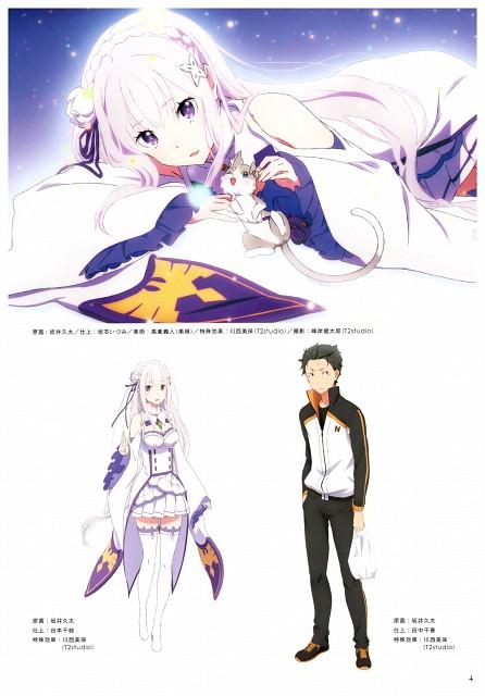 White Fox, Re:Zero, Puck (Re:Zero), Emilia (Re:Zero), Subaru Natsuki