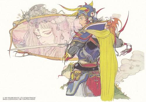 Yoshitaka Amano, Square Enix, Final Fantasy Dissidia, Warrior Of Light, Postcard