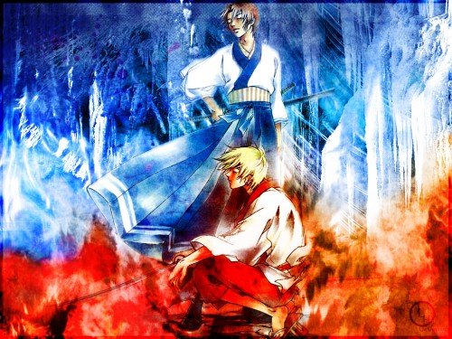 Samurai Deeper Kyo, Akira (SDK), Hotaru (SDK) Wallpaper