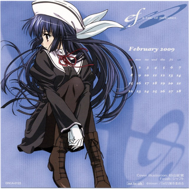 Shaft (Studio), ef - a fairy tale of the two., Yuuko Amamiya, Calendar, Album Cover