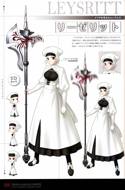 TYPE-MOON, Fate/complete material V Hollow material., Fate/Hollow ataraxia, Leysritt, Character Sheet