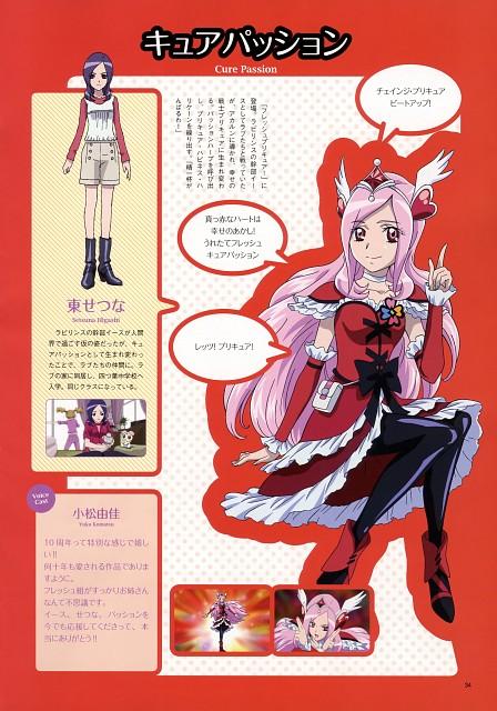 Toei Animation, Fresh Precure!, Precure 10th Anniversary Official Book, Cure Passion, Setsuna Higashi