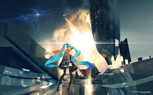 redjuice, Vocaloid, Miku Hatsune, Official Wallpaper