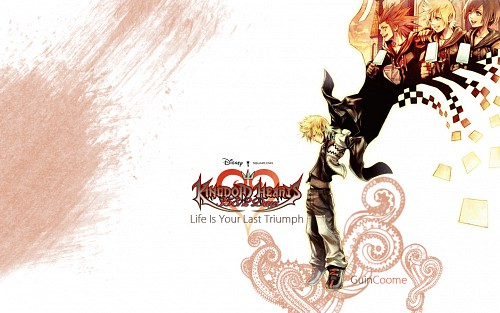 Square Enix, Kingdom Hearts, Roxas, Xion, Axel Wallpaper