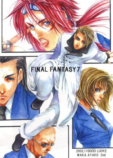 Good Luck!!, Final Fantasy VII, Rufus Shinra, Tseng, Elena (Turks)