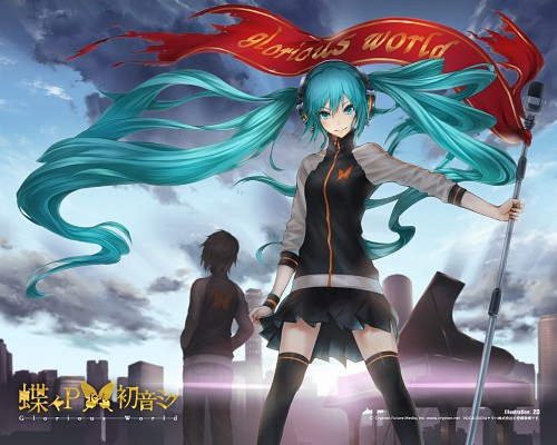 Nidy-2D-, Vocaloid, Miku Hatsune, Kaito, Official Wallpaper