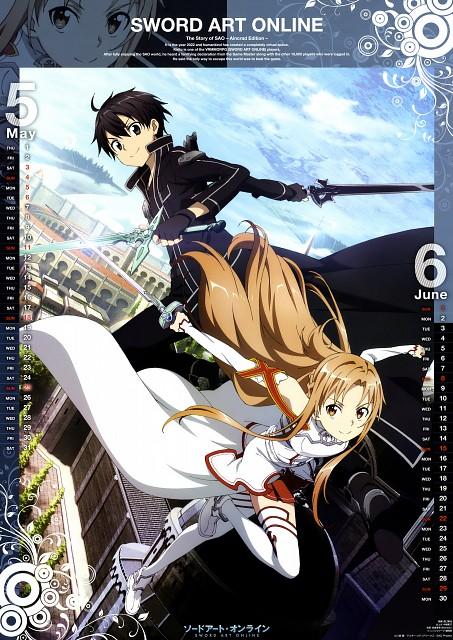 Tomoya Hiratsuka, A-1 Pictures, Sword Art Online 2014 Calendar, Sword Art Online, Kazuto Kirigaya