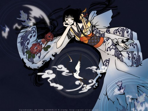 CLAMP, Production I.G, xxxHOLiC, Yuuko Ichihara, Vector Art Wallpaper