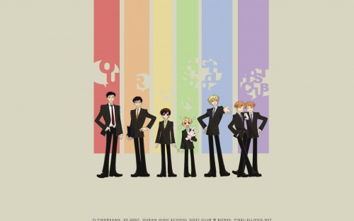 Hatori Bisco, BONES, Ouran High School Host Club, Hikaru Hitachiin, Takashi Morinozuka Wallpaper