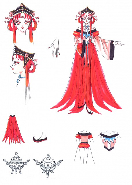 Naoko Takeuchi, Bishoujo Senshi Sailor Moon, BSSM Materials Collection, Princess Kakyuu, Character Sheet