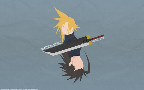 Square Enix, Final Fantasy VII, Cloud Strife, Zack Fair, Vector Art Wallpaper